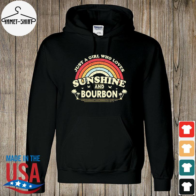 Official Just a girl who loves sunshine bourdon vintage s hoodie