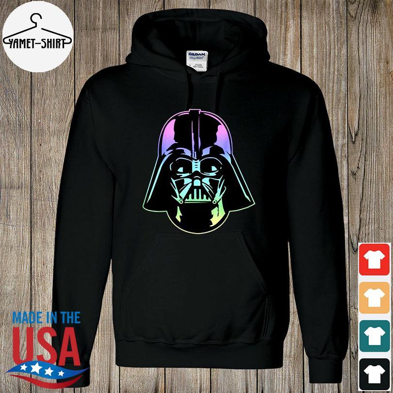 Official Star wars darth Vader head neon gradient s hoodie