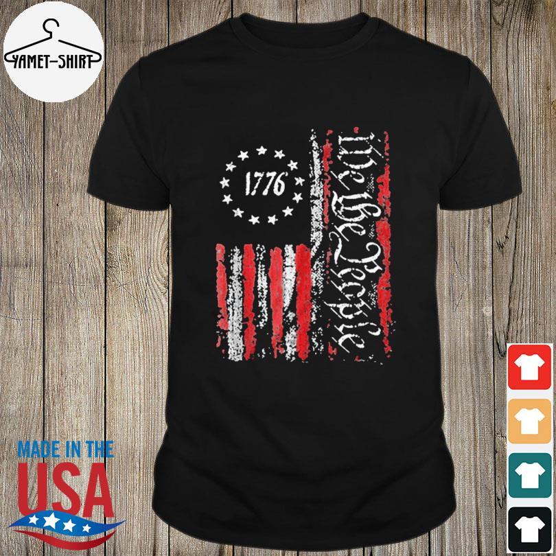 Official Vintage old American flag patriotic 1776 we the people shirt