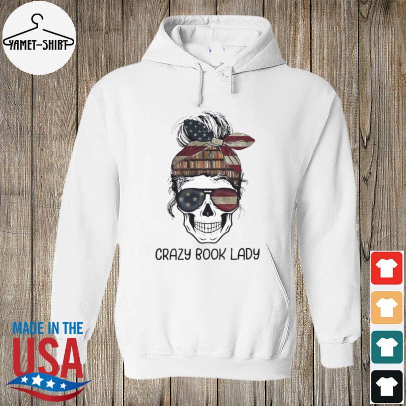 Skull girl crazy book crazy s hoodie