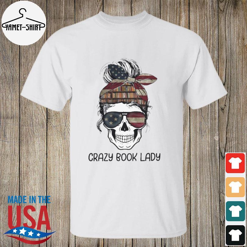 Skull girl crazy book crazy shirt