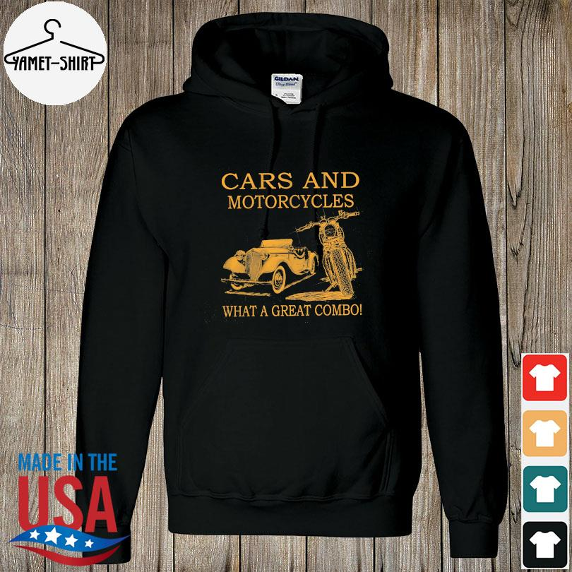 Cars and Motorcycles what a great combo s hoodie