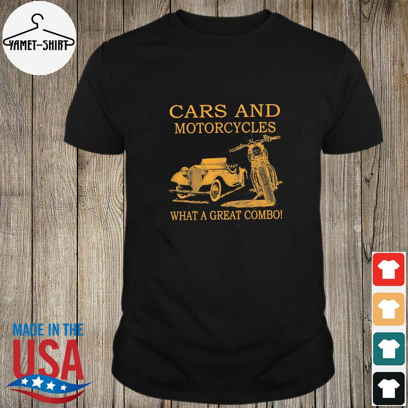 Cars and Motorcycles what a great combo shirt