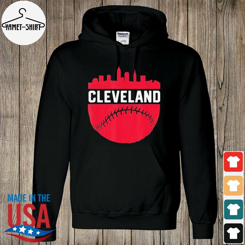 Cleveland Ohio Skyline Baseball s hoodie