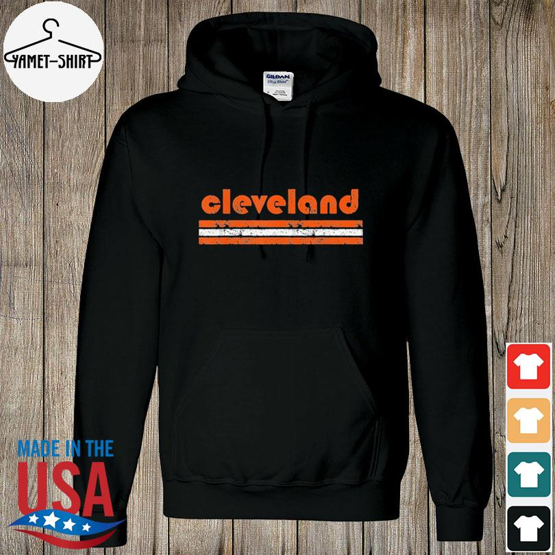 Cleveland Ohio Vintage Three Stripe Weathered s hoodie