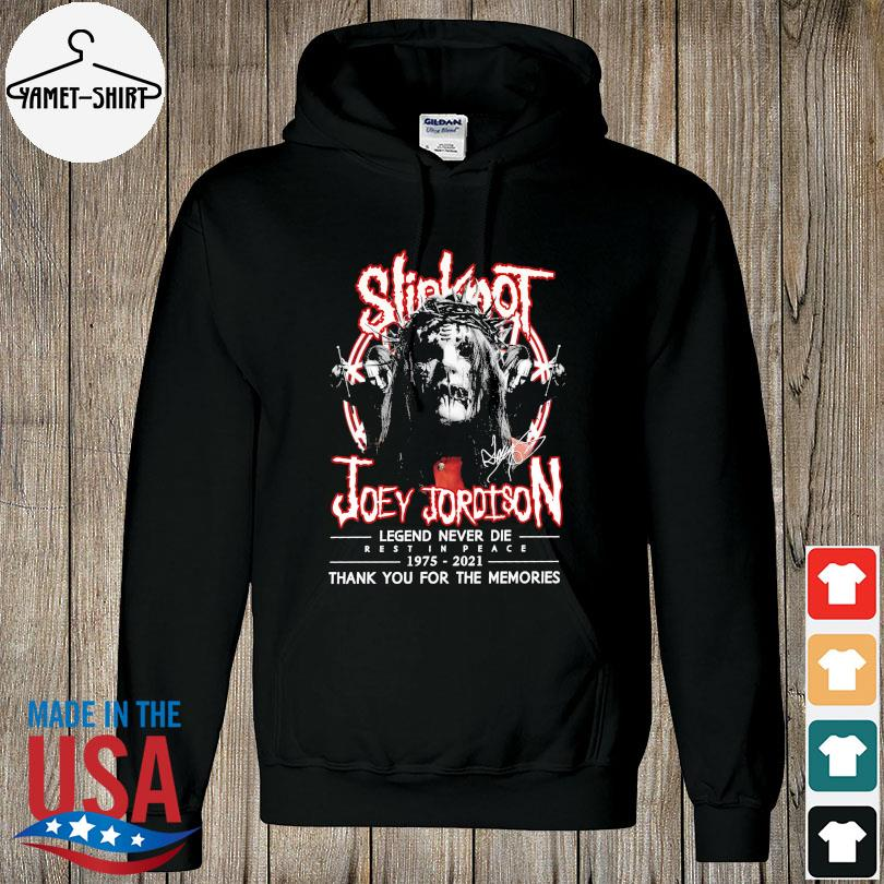 Official Slipknot Joey Jordison legend 1975 2021 thank you for the memories signatures s hoodie