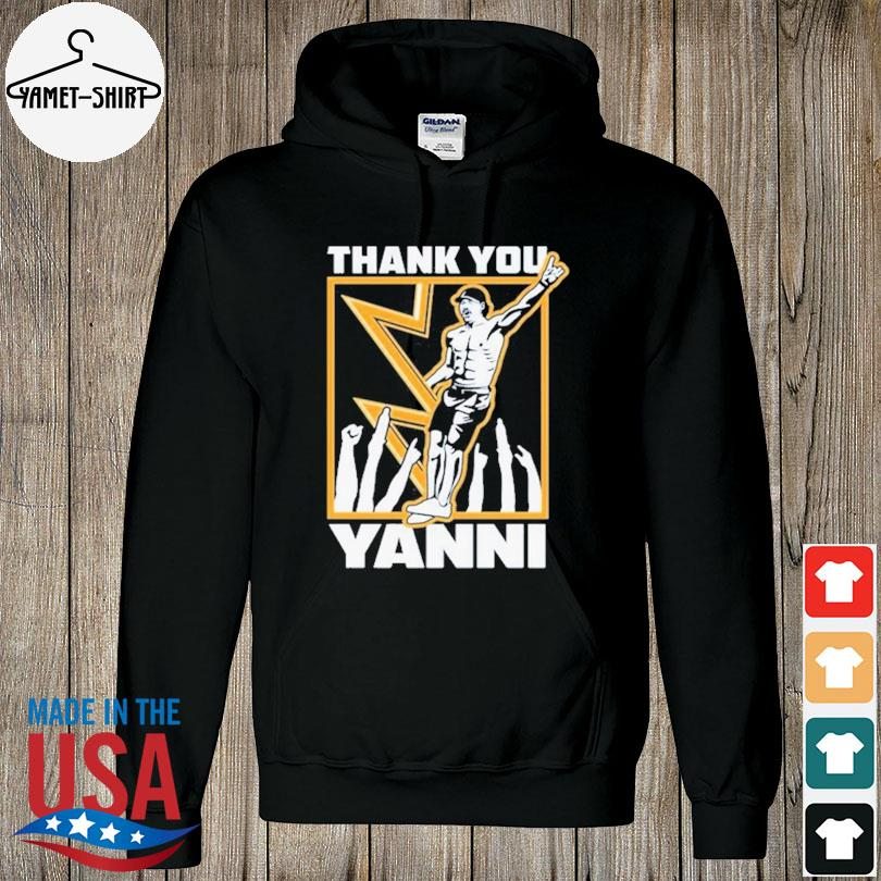 Official Tampa bay lightning thank you yanni s hoodie