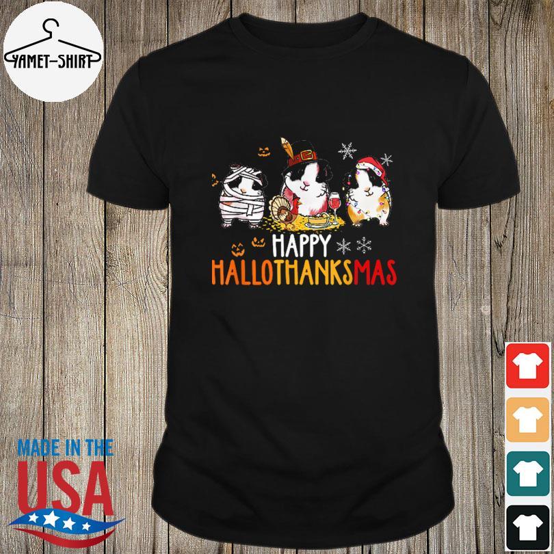 Guinea Pigs With Mummies Santa Happy Hallothanksmas Shirt