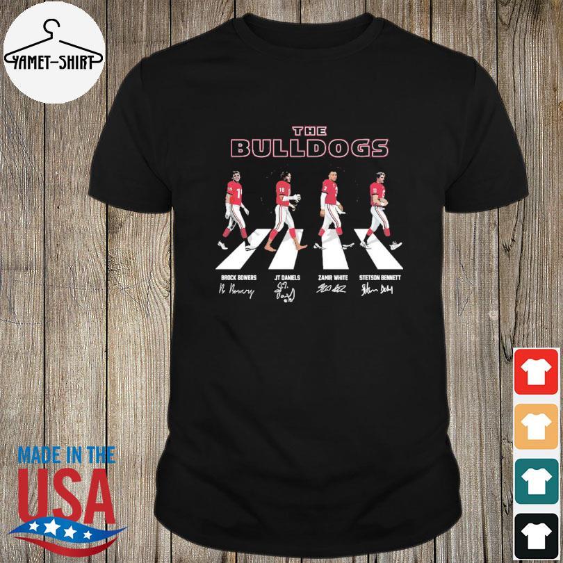 The Georgia Bulldogs Abbey Road signatures shirt